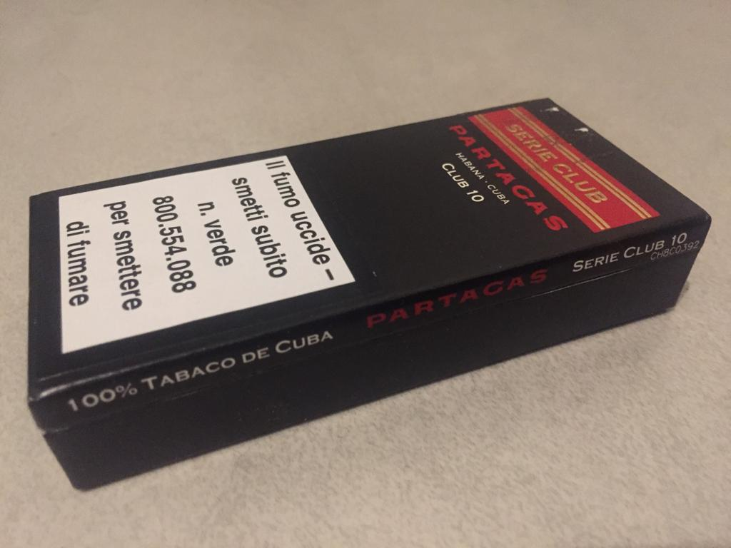 PARTAGAS CLUB 10, UN AFTER COFFEE DA RE